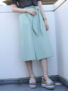 dazzlin (ダズリン) - 【sw】ミディ台形ラップスカート