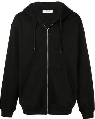 MSGM logo zip hoodie