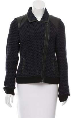 Rag & Bone Leather-Accented Knit Jacket
