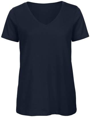 BC B&C Womens/Ladies Favourite Organic Cotton V-Neck T-Shirt (M)