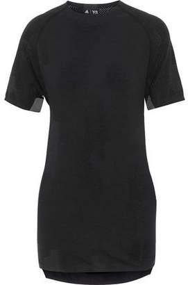 Y-3 + Adidas Wool-Blend Mesh T-Shirt