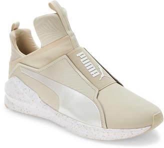Puma Oatmeal & White Fierce Bleached Training Sneakers