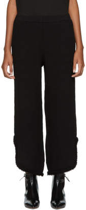 Raquel Allegra Black Cut-Out Lounge Pants