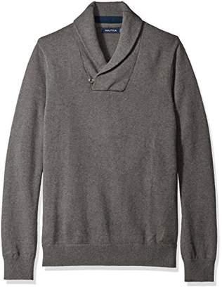 Nautica Men's Button Shawl-Collar Sweater