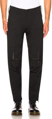 Yohji Yamamoto Cross Slim Pant in Black | FWRD