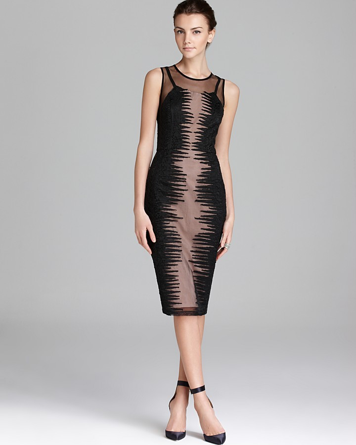 French Connection Dress - Fast Primal Mesh Sequin