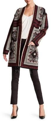 Vertigo Patterned Long Sleeved Cardigan