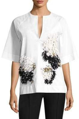 Derek Lam Embellished Cotton Top