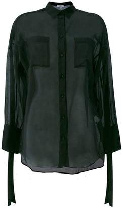 IRO sheer strap detail shirt
