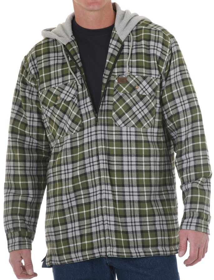 Wrangler Riggs Workwear by Flannel Work Jacket - Insulated, Attached Hood (For Men)