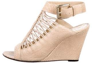 Givenchy Embossed Wedge Sandals