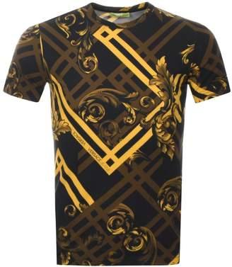 Versace Crew Neck Logo T Shirt Black