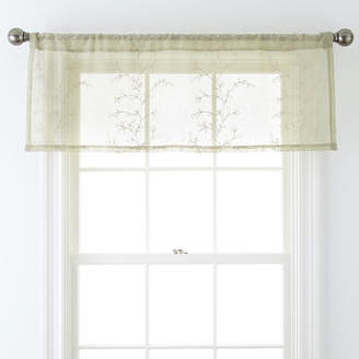 JCPenney JCP HOME HomeTM Ingals Rod-Pocket Sheer Tailored Valance