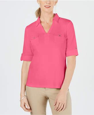 Karen Scott Petite Collared Shirt