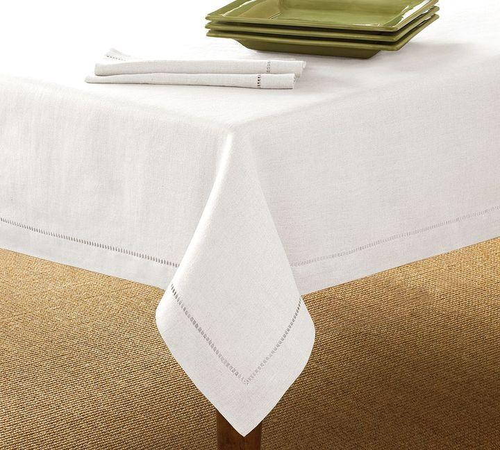 Linen Hemstitch Tablecloth
