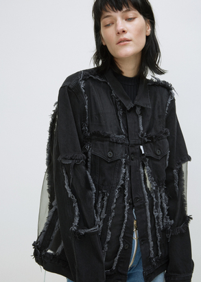 Off-White black over denim jacket organza $1,368 thestylecure.com