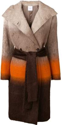 Agnona (アニオナ) - Agnona colour-block belted coat