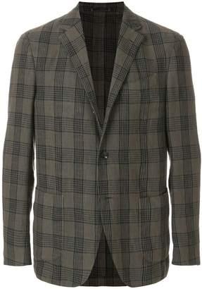 Lardini plaid fitted blazer