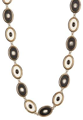 House Of Harlow Black Leather Inlay Del Sol Necklace