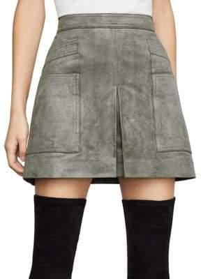 7423b4bd3e BCBGMAXAZRIA Faux Suede Utility Mini Skirt