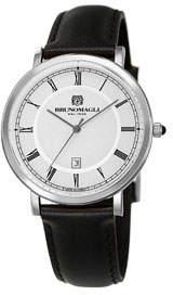 41mm Milano Date Watch w/ Leather Black/Steel