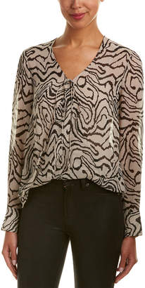 Derek Lam 10 Crosby Silk Wrap Blouse