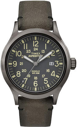 Timex Expedition Mens Gray Leather Strap Watch TW4B01700