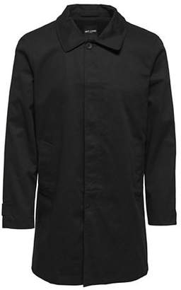 ONLY & SONS Long-Sleeve Cotton Trench Coat