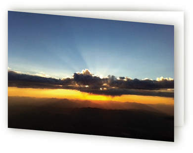 Sunrise card Self-Launch Greeting Cards