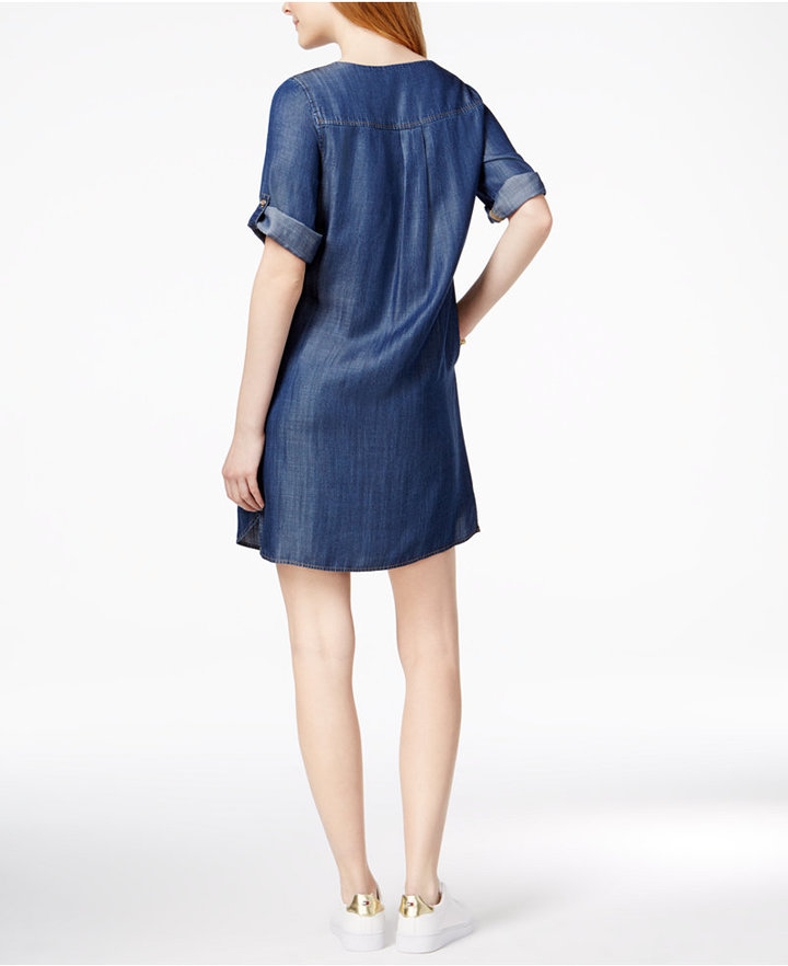 Tommy Hilfiger Grommet-Detail Shift Dress, Only at Macy's 2