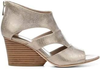 Donald J Pliner JENKIN, Metallic Leather Wedge Sandal