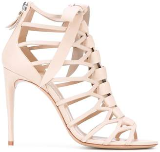 Casadei lattice stiletto sandals
