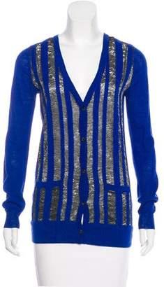 Thakoon Metallic Wool Blend Cardigan