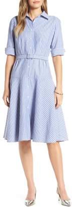 1901 Stripe Belted Shirtdress