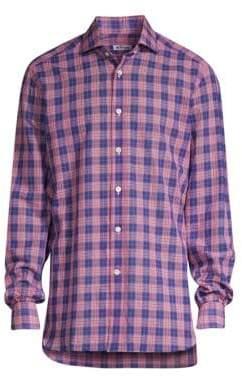 Kiton Classic-Fit Plaid Shirt