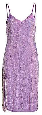 RetrofÃate Women's Denisa Metallic Slip Dress