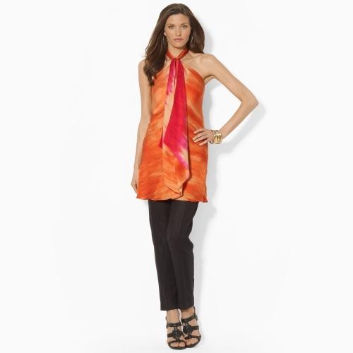 Ralph Lauren Silk Halter Tunic
