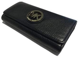 Michael Kors Fulton Flap Pebbled Leather Clutch Wallet