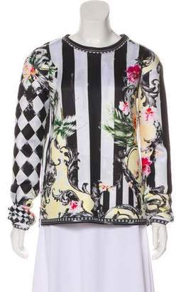 Balmain Long Sleeve Printed Top
