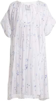 Thierry Colson Shanta Floral Print Cotton Dress - Womens - Purple Multi