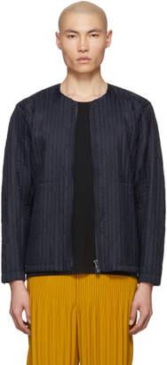 Issey Miyake Homme Plisse Navy Pleated Light Padded Jacket