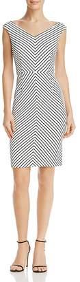 Adrianna Papell Striped Sheath Dress