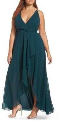 Jenny Yoo Farrah Ruffle Skirt Chiffon Gown