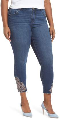 Wit & Wisdom Embroidered High Waist Ankle Skimmer Jeans