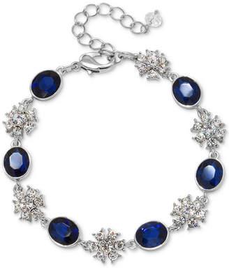 Badgley Mischka Silver-Tone Crystal & Colored Stone Link Bracelet