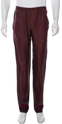 Dolce & Gabbana Printed Silk Pants