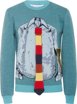 J.W.Anderson Trompe L'Oeil Graphic Wool Sweater