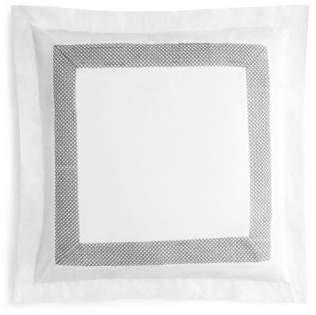 Coyuchi Organic Cotton Lattice Gray Euro Sham