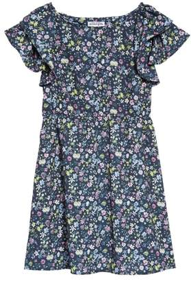 Ten Sixty Sherman Ruffle Sleeve Floral Print Dress
