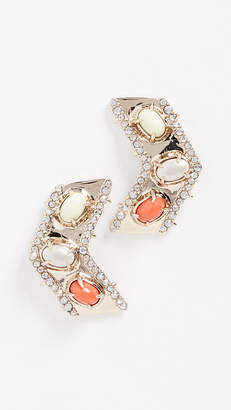 Alexis Bittar Chevron Cabochon Post Earrings